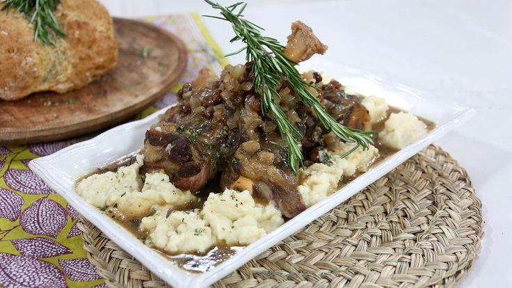 Clodagh's Irish stout lamb shanks with celeriac mash