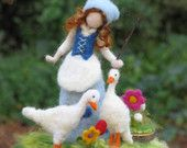 Needle felted waldorf inspired doll Its time for the tulip girl to come. $65.00, via Etsy.