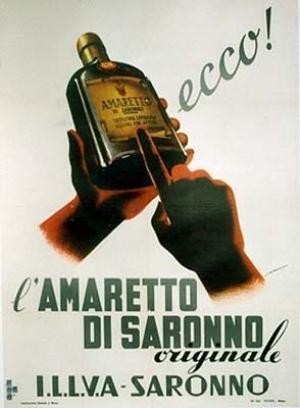 "Vintage Poster: ""AMARETTO DI SARONNO"" by Araca | Vintage Posters & Antique Posters by La Belle Epoque"