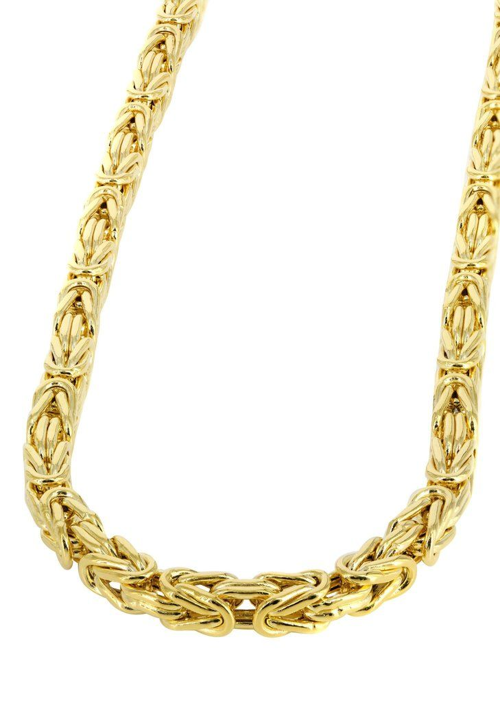 Gold Chain Mens Italian Bizantine Chain 10k Gold Real Gold Chains Mens Gold Jewelry Gold Chains For Men