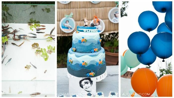 Gone Fishing Party with SUCH CUTE IDEAS via Kara's Party Ideas