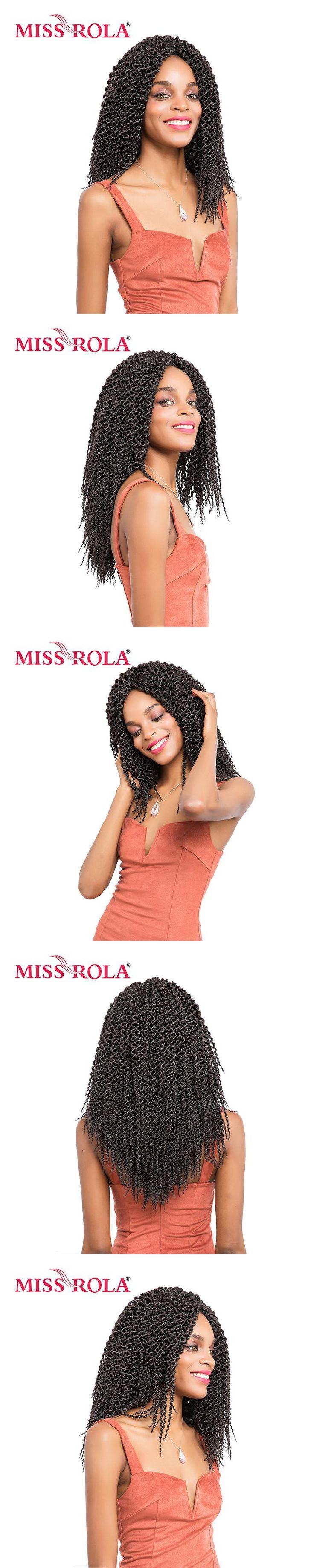 Miss Rola 13inch Havana Twist Braids Hair 28roots/pack Kanekalon Low Temperature 1B# Crochet Braiding Curly Hair Extensions