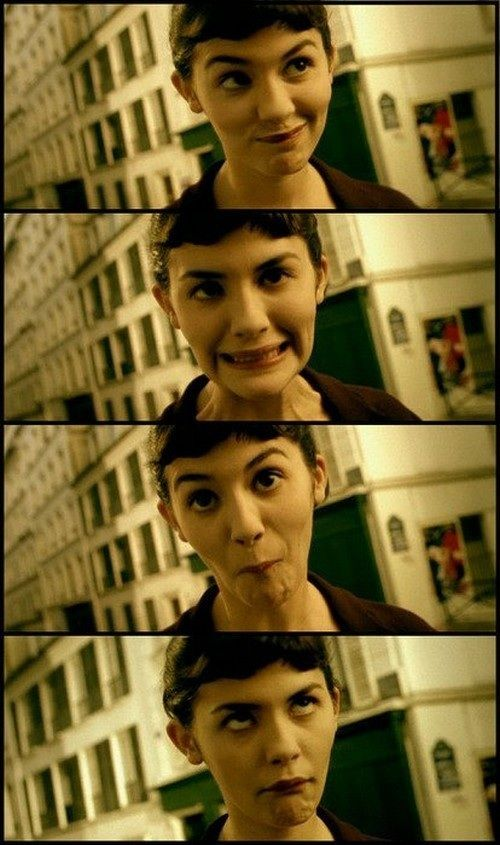 I love the movie Amelie. I got really excited when I saw a lady that looked just like her at work today.