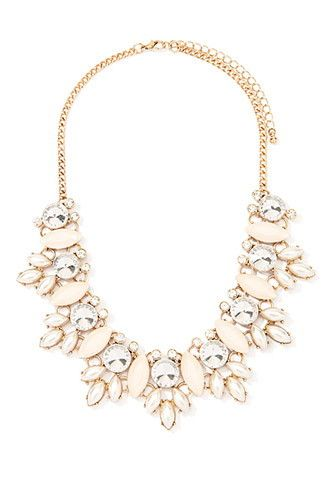 Faux Pearl Statement Necklace   Forever 21 - $14.90