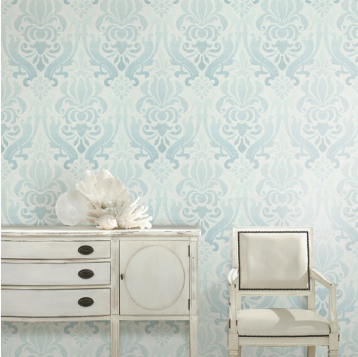 Add Texture And Dimension To An Open Space By Using Wallpaper From The HGTV HOMETM