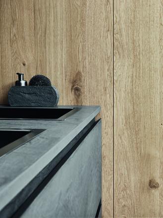 Éco-ciment foncé## Chêne à noeuds natural | Cesar