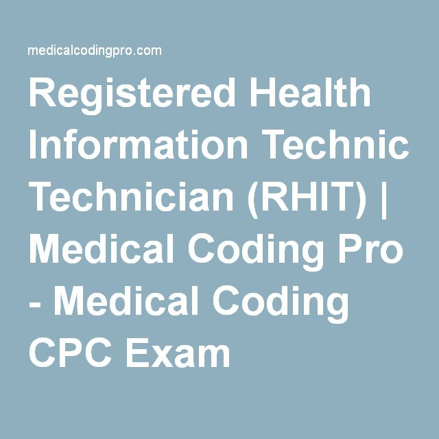19 best cte careers images on pinterest infographic registered health information technician rhit medical coding pro medical coding cpc exam fandeluxe Images