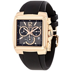 @Overstock.com - This sophisticated mens watch from ESQ by Movado features a rose-gold ion-plated stainless steel case with a coordinating black silicone strap. The black dial is home for indices and hands for easy time-telling.http://www.overstock.com/Jewelry-Watches/ESQ-by-Movado-Mens-Bracer-Watch/6816092/product.html?CID=214117 $551.99