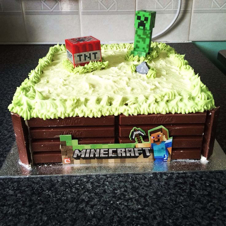Minecraft Kit Kat Cake Minecraft Cake Candy Cakes Cake