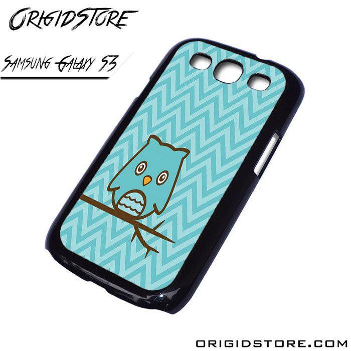 owl branches blue stripes Samsung Galaxy case Samsung Galaxy S3 Samsung Galaxy S3 cover Samsung Galaxy