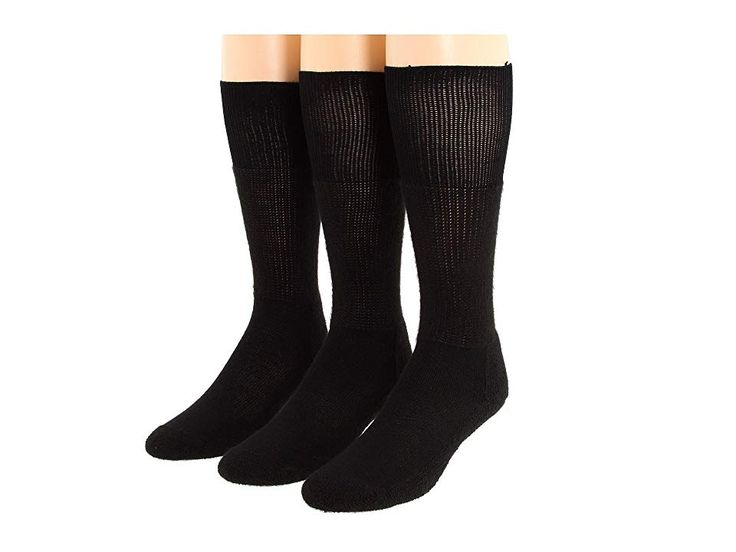 Thorlos Western Dress 3-Pair Pack (Black) Crew Cut Socks Shoes. Stop reaching into your boots to adjust your socks with the comfortable Western Dress by Thorlos Sold as a three-pair pack. Crew length sits at calf. Designed to be worn with Western boots. THORLON construction provides amazing resilience  durability and moisture wicking. Moderate cushioning in the ball and heel offer maximum shock  impact  shear and blister prot #Thorlos #Shoes #Socks #CrewCut #BlackJanelle Li