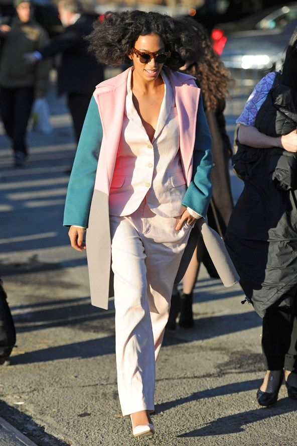 Solange at New York Fashion Week autumn/winter 2014 Front Rows and party pictures (Vogue.com UK)