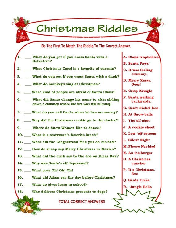 christmas riddle game diy holiday party game printable christmas game diy game for holiday. Black Bedroom Furniture Sets. Home Design Ideas