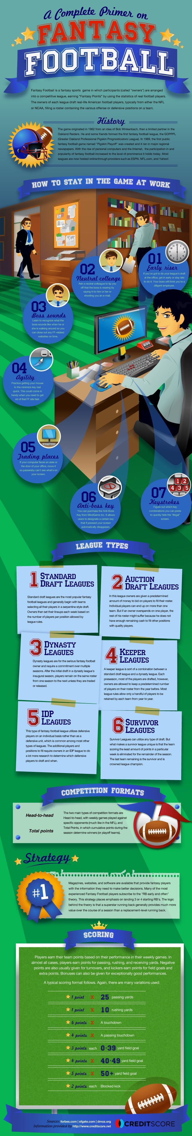 Fantasy Football Infographic - Super clean design