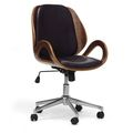 $182 Watson Walnut and Black Modern Office Chair | Overstock.com Shopping - The Best Deals on Office Chairs