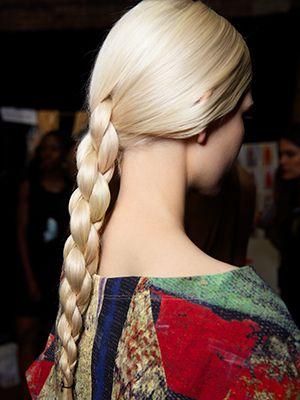 When I first saw this amazing four-strand braid float down the runway at Donna Karan, I was entranced. How did they do that? Turns out, it's a little bit complicated. We enlisted hairstylist Matt Fugate of the New York City...