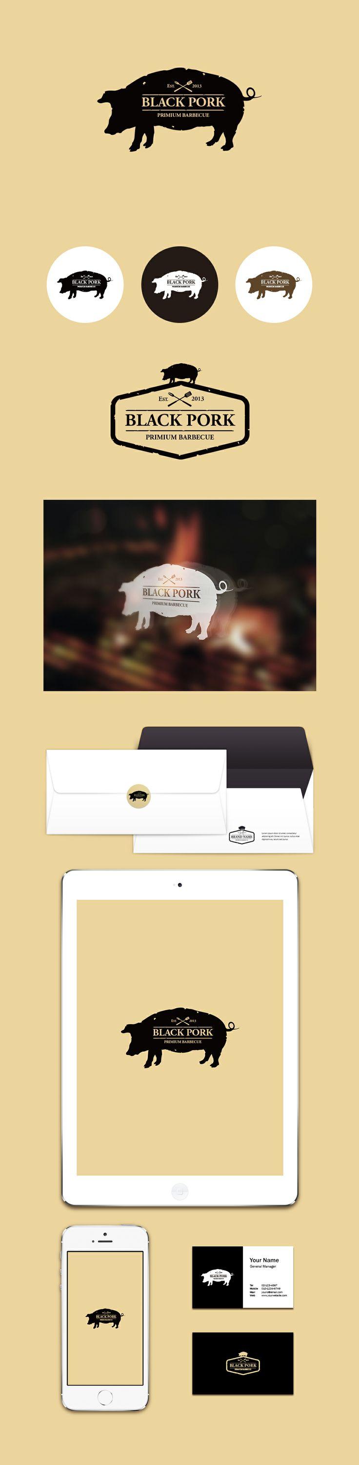 Black Pork [Logo Design By Conoi]