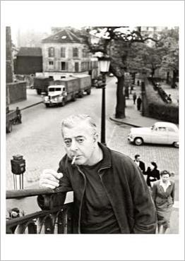 Jacques Prévert, 1955 par Robert DOISNEAU - [I read & liked his poetry when I was a French major in college eons ago; I even wrote a French poem of my own following his style....]