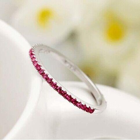 49% Серебряные Кольца для Женщин Модные Аксессуары Розовый Кристалл CZ Алмазный Анель Обручальные кольца, 2016 Новый Anillos Mujer плата J029