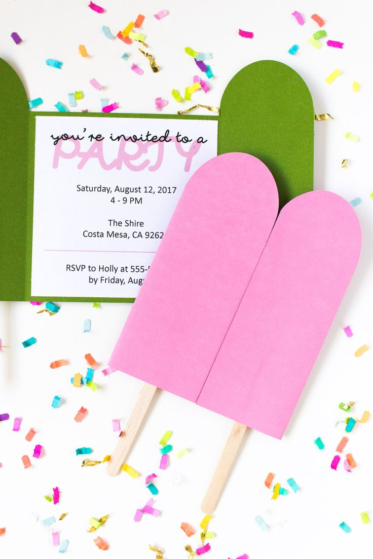 DIY Popsicle Invitations + Free Printable! | Club Crafted