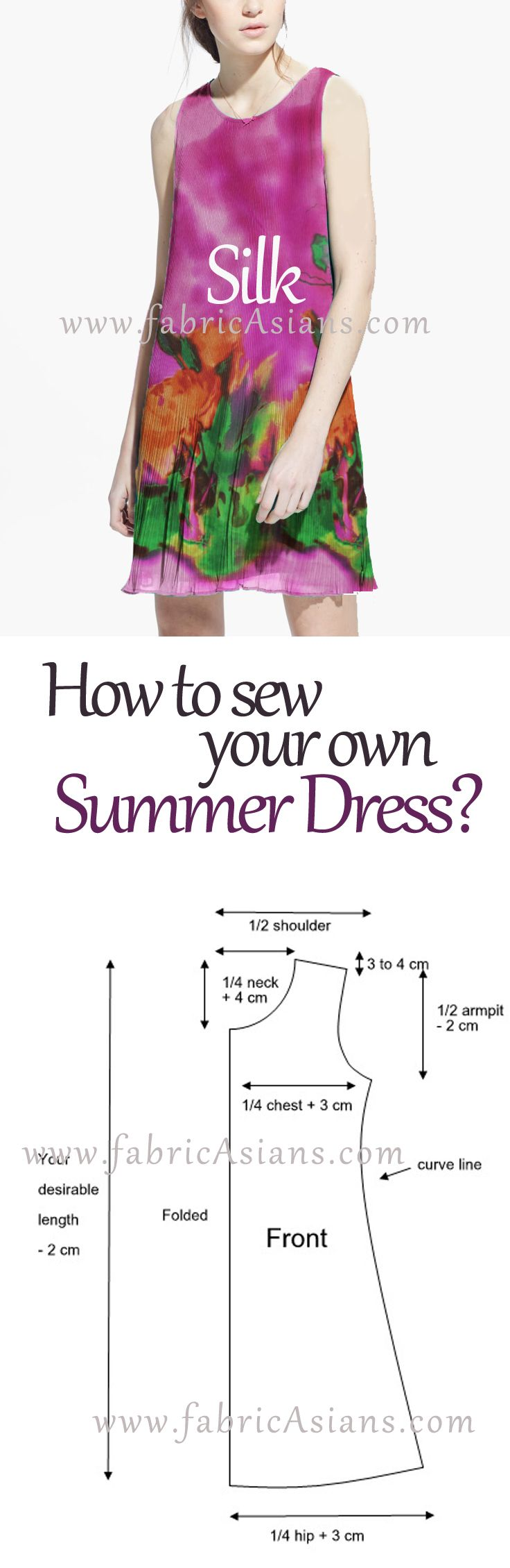 How to make your summer dress? It is easy. Tunic dress sewing pattern. summer dress sewing pattern free.