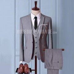 Costume pour mariage 2 ou 3 pièces Veste Pantalon Gilet avec 6 cadeaux gratuits