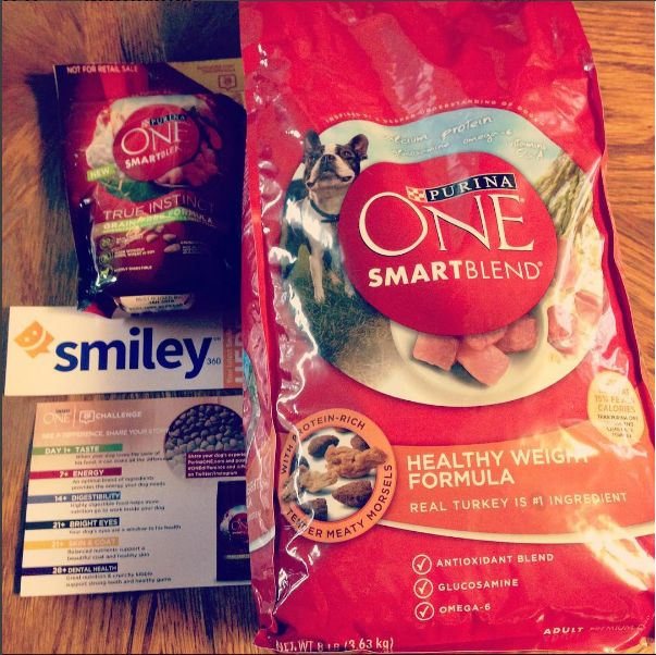 I received a small bag of PurinaONE & a coupon for my choice of an 8lb bag of Purina ONE dog food to try for free for review, I chose the healthy weight formula which has real pieces of turkey! #ONEDifference #PurinaONE #Smiley360 #FreeSample