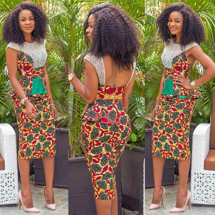 African printed dress, robe wax