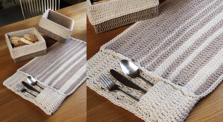 Un set de table au crochet crochet et tables for Un set de table