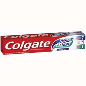 Colgate Triple Action Toothpaste 100ml. Dental care wholesale products available now at www.mxwholesale.co.uk