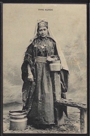 Kurdish Woman from Syria, 1910. Published by Cl. Thevenet.