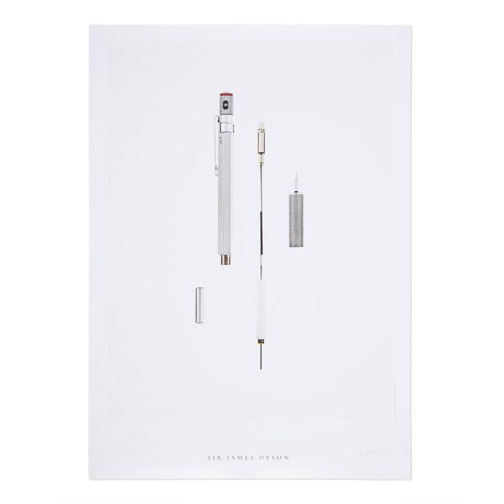 'The Secret Life Of The Pencil' Print | Sir James Dyson
