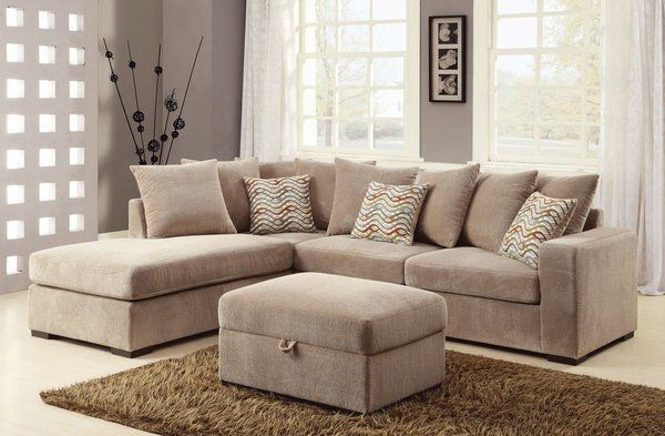 OLSON CONTEMPORARY REVERSIBLE SECTIONAL WITH CHAISE / PRICE FOR SOFA ONLY