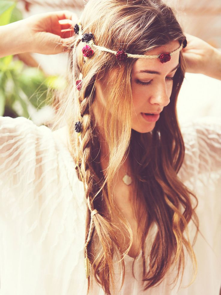 hippie headband hairstyles