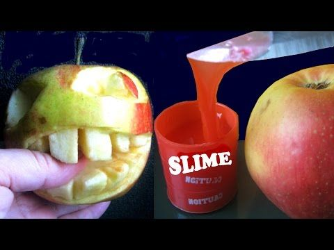 DIY Really Apple Bite Slime Morsure Pomme Manzana Mordida 苹果咬一口 Video for Kids Funny Toyo Surprise - YouTube
