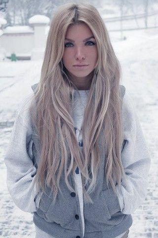 pretty hair: Long Hair Style, Blondes Hair, Hairstyles, Ash Blondes, Hair Colors, Winter Colors, Haircolor, Longhair, Winter Hair