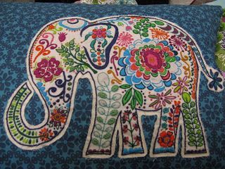 Quilting Blog - Cactus Needle Quilts, Fabric and More: Marrakech Elephant Embroidery