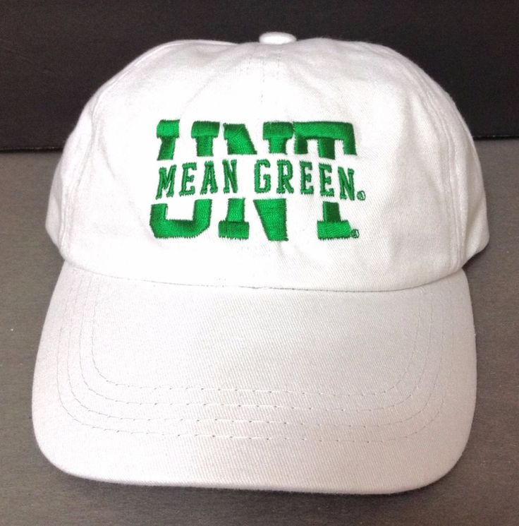Low-Profile-Crown UNT MEAN GREEN HAT White North Texas Relaxed-Fit Men/Women NEW #MVSport #BaseballCap
