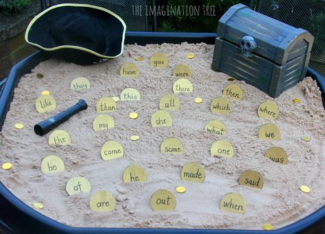 Sight Word Activity: Pirate Doubloons Treasure Hunt