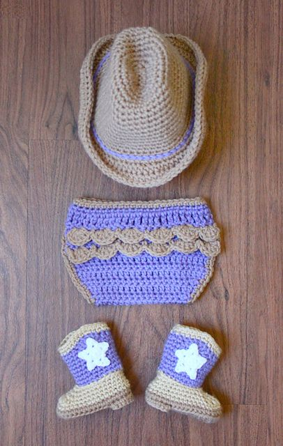 Ravelry: Project Gallery for Crochet Baby Cowboy Booties pattern by Michael Sellick