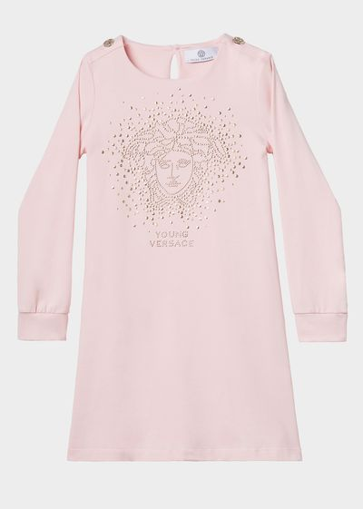Medusa Burst Jersey Dress - Young Versace Clothing
