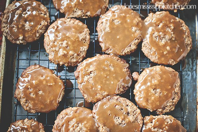 Oatmeal-Pear Caramel Glazed Cookies: Glazed Cookies, Oatmeal Pear Caramel, Cookies Mmm, Caramel Glazed, Pears, Label Cookies, Cookie Recipes