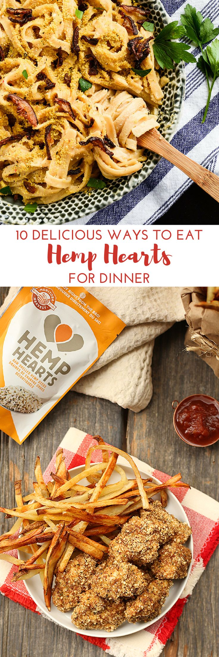 You may already use Hemp Hearts in your breakfast routine or even add them to your salads for lunch but have you ever tried having them for dinner? Besides just sprinkling Hemp Hearts on your supper for some extra protein and omegas, you can also use them as a breading for chicken or fish, blend them with fresh basil to make a pesto, use them as a topping on Mac & Cheese and so much more! Here are 10 delicious ways to incorporate Hemp Hearts into your dinner.