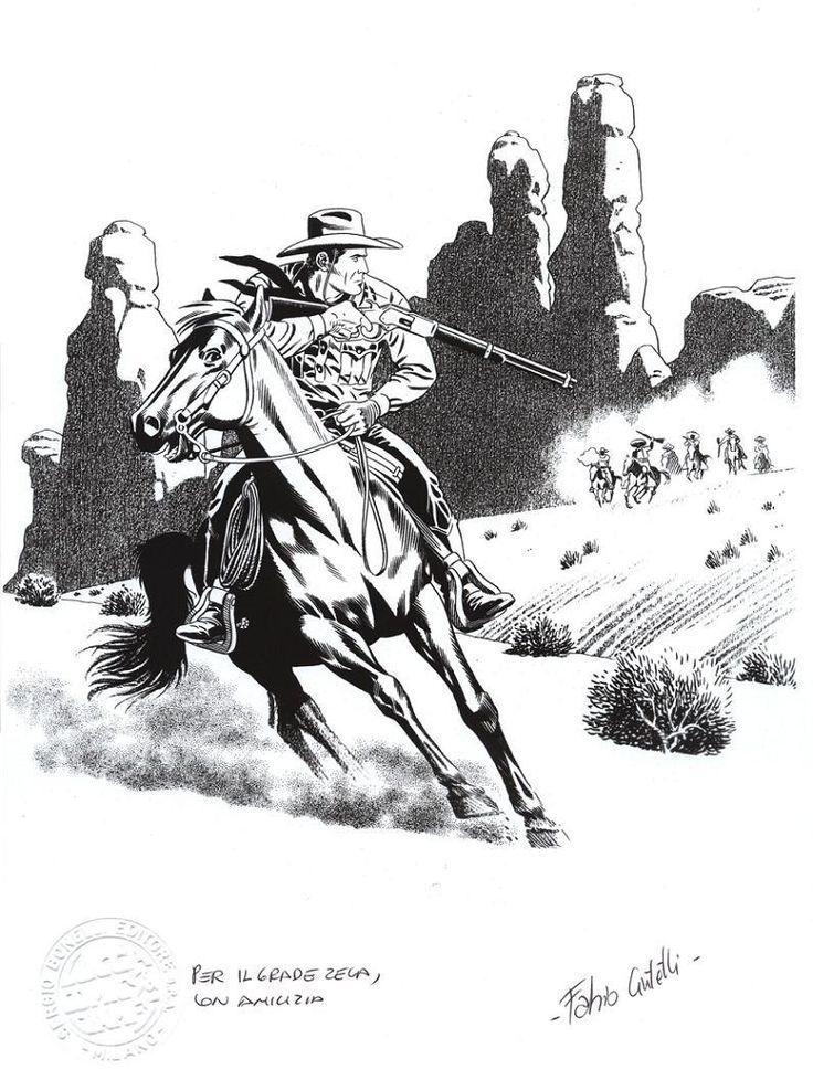 Tex Willer em acção, por Fabio Civitelli