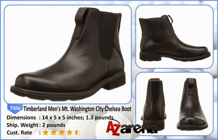 Timberland Men's Mt. Washington City Chelsea Boot | Built to last from water-resistant full-grain leather and suede, the Timberland Men's Mount Washington Chelsea Update Boots are rugged enough to handle the most challenging days. A removable EVA chassis offers all-day support without adding weight. Featuring a moisture-wicking textile lining and durable rubber outsole, these low-profile boots will keep your feet dry and comfortable, even in the toughest weather.
