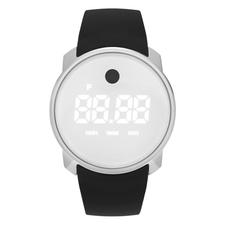 Movado Unisex 3600253 'Bold' Stainless Steel Digital Touch Screen Dial Gray Strap Watch