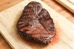 Sirloin tip steak is a naturally somewhat tender steak that isn't as expensive as steak tenderloin.  A perfectly cooked steak is crusty on the outside and juicy in the center. If you don't have a grill, don't worry; a classic way to cook sirloin tip steak is to sear the steak in a pan and finish it in the oven. Deglaze the pan with wine and butter...