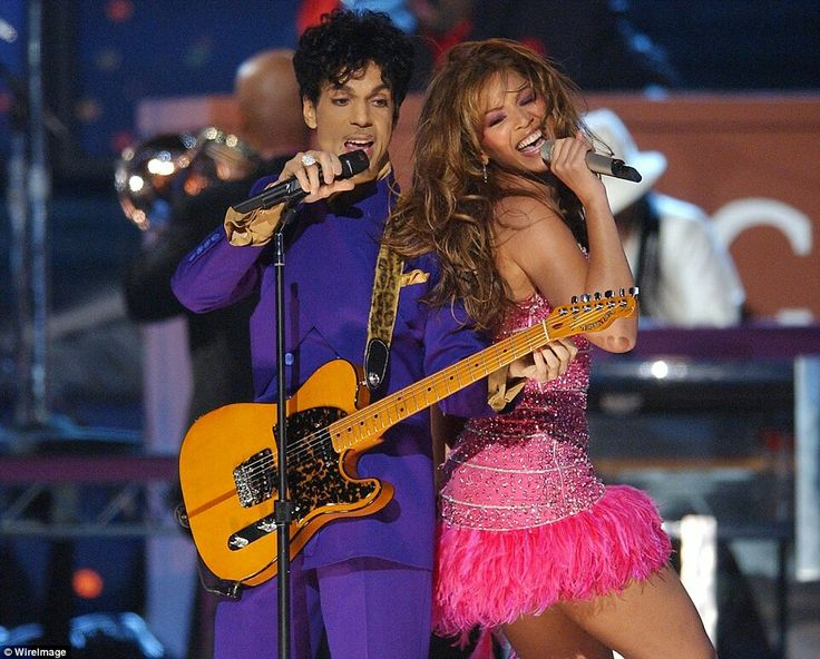 Prince and Beyonce perform a medley of his hits during The 46th Annual Grammy…