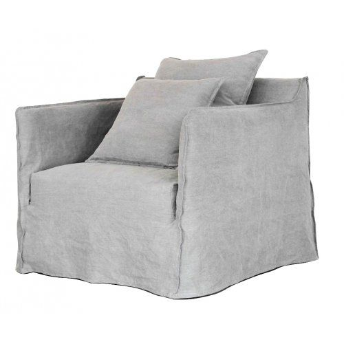 Linen Slip cover chair -Taupe
