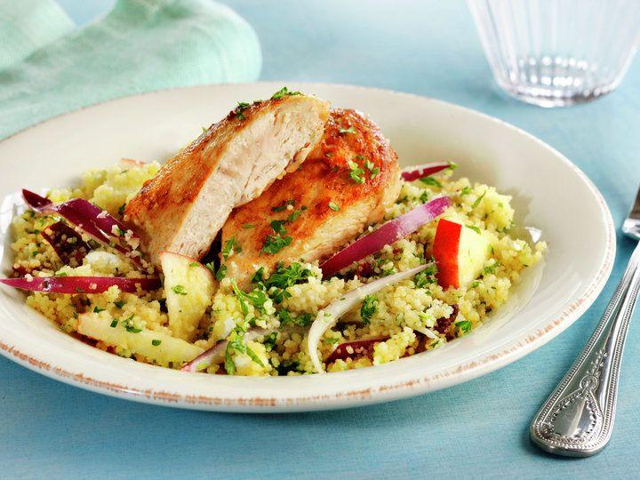 Kyllingsalat med couscous og ruccula